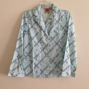 New Tory Burch pocket pajama style button up top